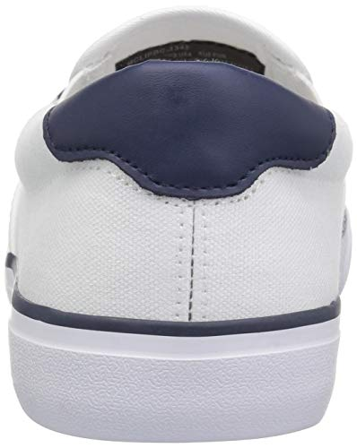 Lugz Men's Clipper Sneaker, White/Peacoat Blue, 7 D US