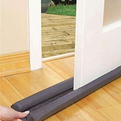 Burlete bajo puerta aislante de doble (Burlete para puerta, diseño de) frío - Gris o negro