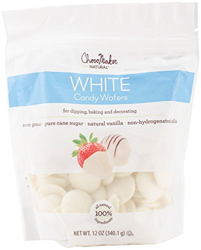 ChocoMaker Vanilla Natural Chocolate Candy Wafers 12oz Pouch