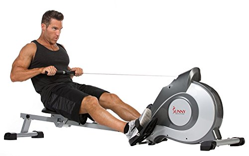Sunny Health & Fitness SF RW5515 Magnetic Rowing Machine Rower w/LCD Monitor