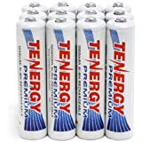 Combo: 12 Pcs of Tenergy Premium AAA 1000mah Nimh Rechargeable Batteries