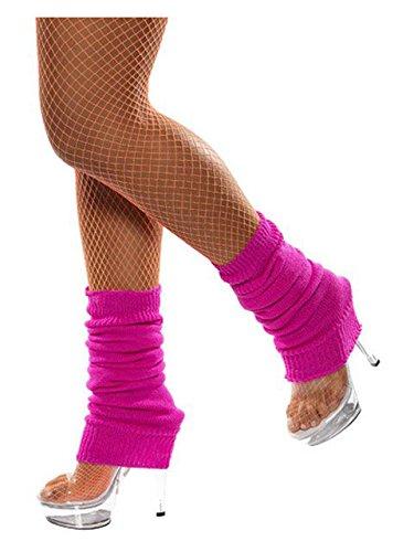 Forum Novelties Neon Leg Warmers, Pink, One