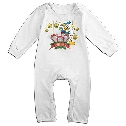 [VanillaBubble Donald Duck And Christmas For 6-24 Months Baby Custom T-shirt White Size 6 M] (Baby Megamind Costume)