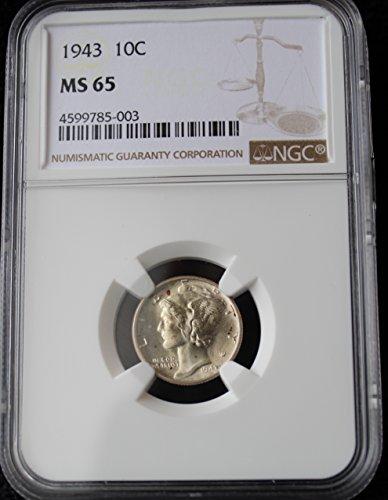 1943 Mercury Dime 10c MS-65 NGC