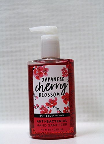 (Bath & Body Works - Japanese Cherry Blossom - Full Size - Anti-Bacterial Hand Sanitizer 7.6)