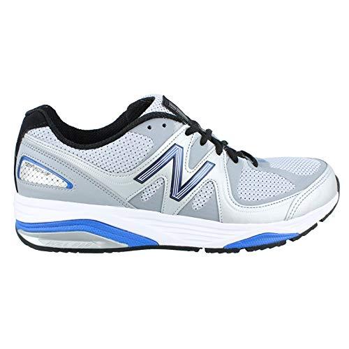 New Balance Men's M1540V2 Running Shoe, Silver/Blue, 12 6E US ()