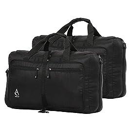 Aerolite Ultra Lightweight Foldable Holdall Shoulder Bag Flight Sports Kit Bag Black, Set of 2