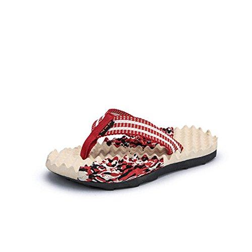 25 Sandalo impermeabili e estivi Rosso antiscivolo in 27 Pantaloncini da da spiaggia da 5 da Sandali Melodycp pelle uomo uomo uomoCasual cm YTxqY47