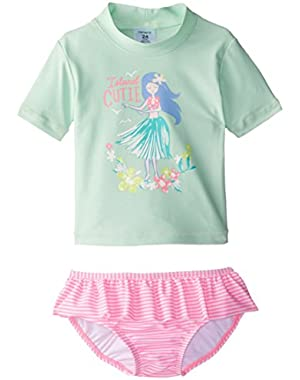 Baby Girls' Hula Rash Guard Set