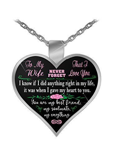 Maybe A Tee To my wife, never forget that I love you - silver pendant necklace