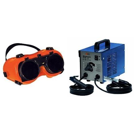 Silverline 140810 - Gafas de soldador (Transparente / Verde n° 5) y Einhell