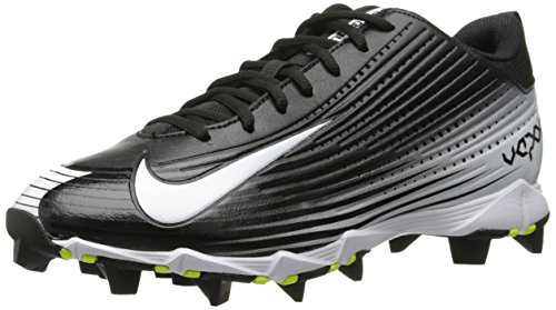 Nike Mens Vapor Keystone 2 Low Baseball Cleat (9, Black/White)