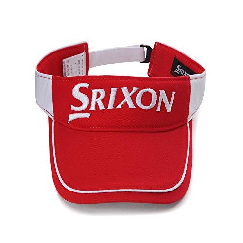 [SRIXON] Visor 6511 RedWhite ダンロップ スリッソン ゴルフ 帽子 メッシュ バイザー フリーサイズ レッドホワイト [並行輸入品]