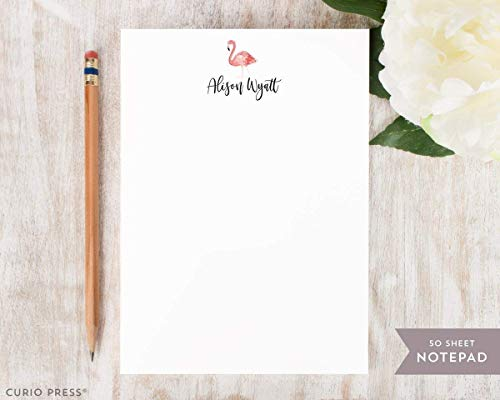Notepad Summer (FLAMINGO NOTEPAD - Personalized Stationery/Stationary Summer 5x7 or 8x10 Note Pad)