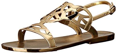 Stuart Weitzman Women's Gelfisher Jelly Sandal, Gold, 7 M (Stuart Weitzman Gold Sandals)