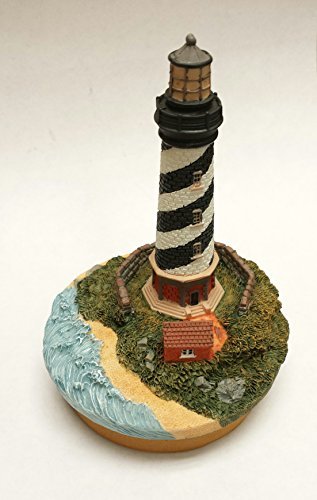 Our America Lighthouse Collection Candletopper and Base Cape Hatteras NC