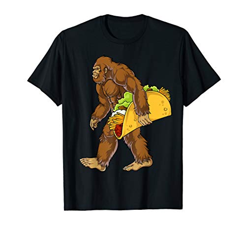 Bigfoot Carrying Taco T shirt Cinco de Mayo Boys Sasquatch]()