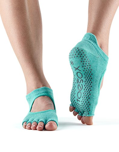 Toesox Grip Half Toe Bellarina (Aqua) Small