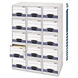 Bankers Box 00311 - Stor/Drawer Steel Plus Storage Box, Letter, White/Blue, 6/Carton