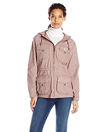 Carhartt Women's El Paso Ripstop Utility Jacket,Light Raisin,X-Large