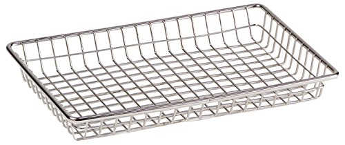 G.E.T. Enterprises 4-835812 Metal Rectangular Wire Serving Tray, Stainless Steel GET