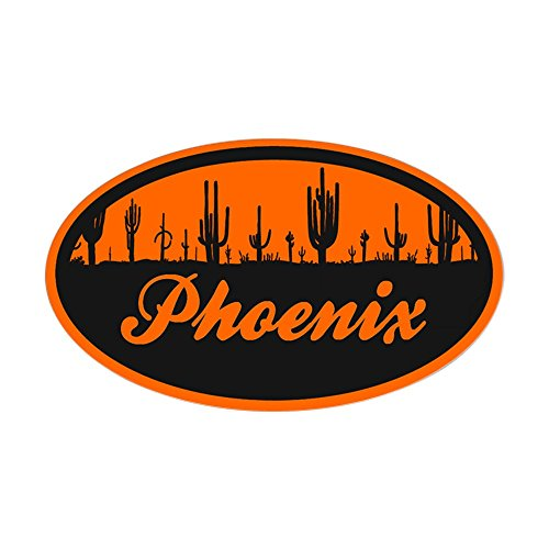CafePress - Phoenix AZ Flag Sticker  - Oval Bumper Sticker,