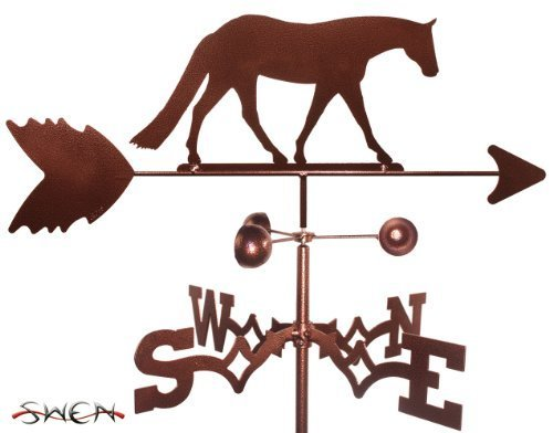 Horse Outdoor Post Mount (Hand Made WESTERN PLEASURE HORSE FLAT POST Mount Weathervane ~NEW~ by SWEN Products)