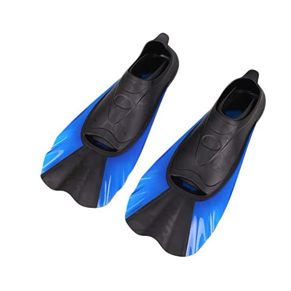 Aprettysunny Snorkelling Fins Swimming Foot Diving Fins Flipper Equipment Training Lightweight Portable