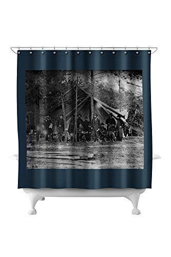 Virginia Shower Curtain (Cold Harbor, Virginia - General U.S. Grant and Staff - Civil War Photograph (71x74 Polyester Shower Curtain))