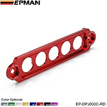 EPMAN Racing Jdm Style Aluminum Battery Tie Down For Honda Civic Si 02-05 (Red)