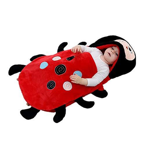 Ladybug Envelope Baby Sleeping Bag Sleeveless Newborn Winter Warm Swaddle- Newborn Infant Baby Winter Keep Warm Sleeping Bag (red/60-80cm) - Robe Cotton Envelope Red