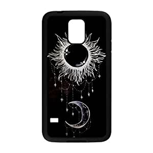 LeonardCustom Protective TPU Rubber Gel Coated Cover Case for Samsung Galaxy S5, Funny Trippy Sun and Moon LCS5U05 by runtopwell