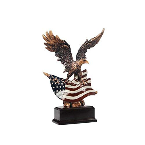 Gaoxingbianlidian Home Decoration, Flying Eagle Sculpture and Decoration, Suitable for Home Living Room Cabinet TV Cabinet Wine Cabinet Craft Gift (Color : Brown, Size : 171025cm)