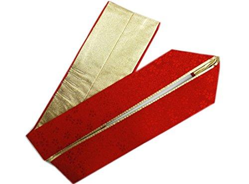 2色使い小桜地紋入り正絹重ね衿伊達襟赤色金 振袖成人式&卒業式袴?着物に