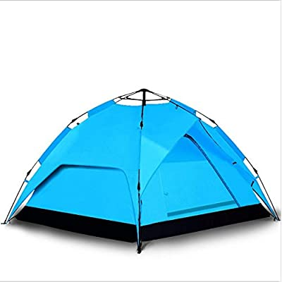 WZH Plein air lecteur automatique double vitesse 3-4 de la construction d'une tente imperméable camping imperméable à l'eau et le vent-logement