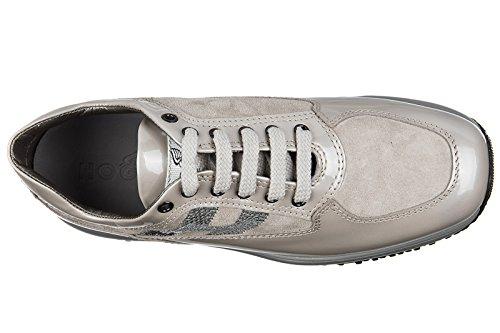 Hogan BabyschuheSneakers Kinder Baby Schuhe Mädchen Leder Turnschuhe h micro pa