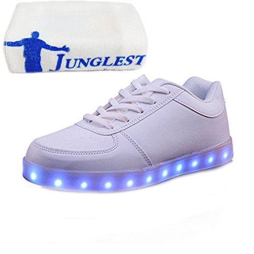 (Present:kleines Handtuch)JUNGLEST® 7 Farbe USB Aufladen LED Leuchtend Sport Schuhe Sportschuhe High Top Sneaker Turnschuhe für Unisex-Erwa c23