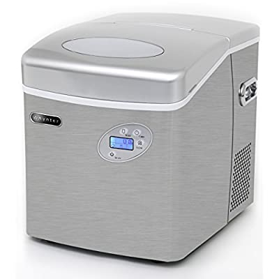 Whynter IMC-491DC Portable Ice Maker with Water Connection, 49 lb. Capacity, Stainless Steel