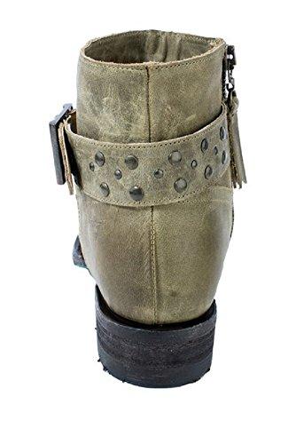 Lane Western Boots Womens Beltline Criss-cross Oliva Lb0228f Oliva