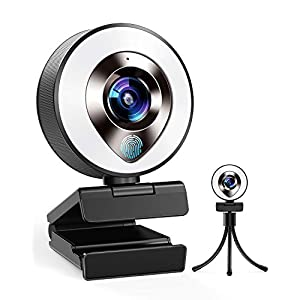 Flashandfocus.com 41-ERwePsJL._SS300_ 2021 CASECUBE FHD 1080P Webcam with Microphone and Ring Light, 3-Level Adjustable Brightness, Plug and Play Computer…