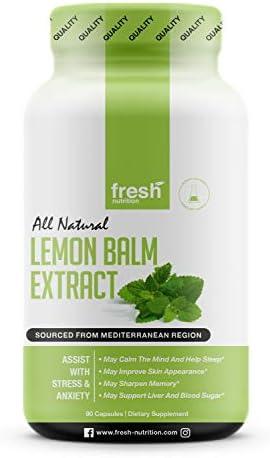 Lemon Balm Extract Capsules Levels Powerful product image
