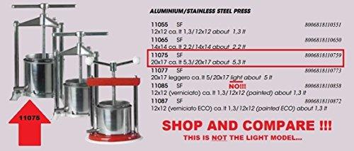 WINE PRESS & FRUIT JUICER FERRARI GRANDE 5 QUART HEAVY DUTY Stainless Steel & Aluminum Italian Squeezer by Ferrari (Image #7)