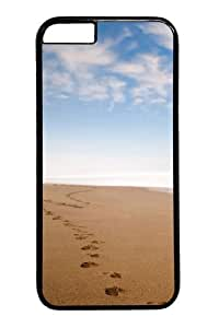 Footprints in the sand PC Case Cover for iPhone 6 and iPhone 6 Black