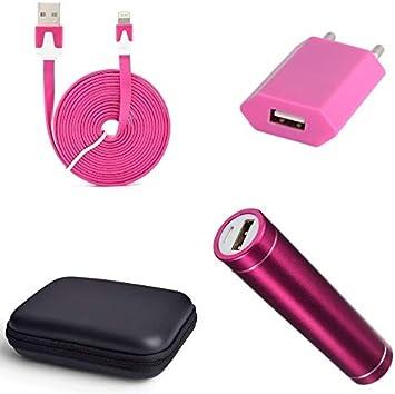 Shot Case Pack para iPhone 11 Pro (Cable Cargador Lightning + Funda, batería y Toma de Corriente) Apple (Rosa): Amazon.es: Electrónica