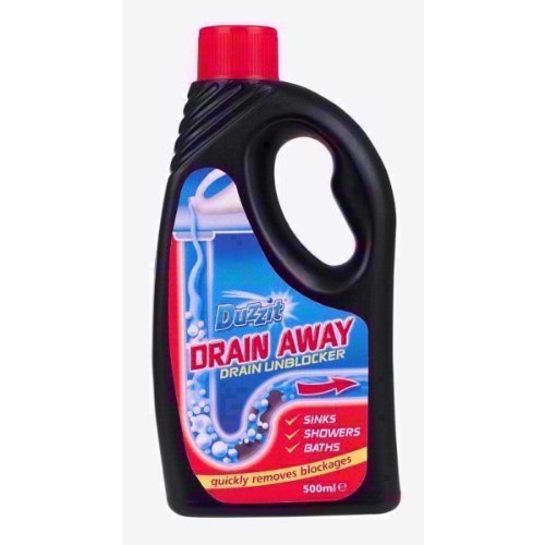2 x Duzzit Drain Away Drain Unblocker Liquid Formular 500ML Sink Bath Shower 151