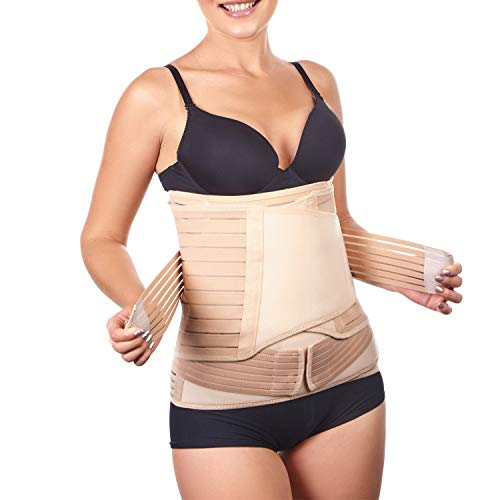 3 in 1 Postpartum Belly Support Recovery Wrap - Belly Band for Postnatal, Pregnancy, Maternity - Girdles for Women Body Shaper - Tummy Bandit Waist Shapewear Belt