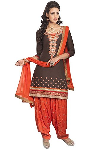 Vibes Women's Cotton Salwar Suit Dress Material – Free Size, Grey