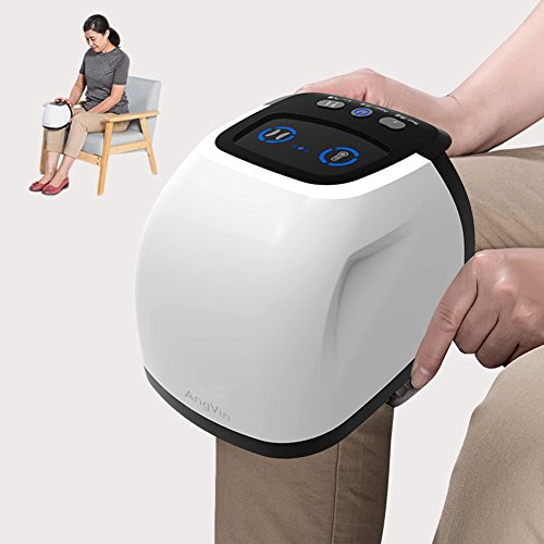 Knee Massager, AngVin Leg Knee Joint Arthristis Pain Relief Therapy Machine w/Airbag Compression Vibration Warm Heat Infrared Magnet Physiotheray, Fits Shoulders Elbows,Gift For Mom Dad [Knee Dia<5in]
