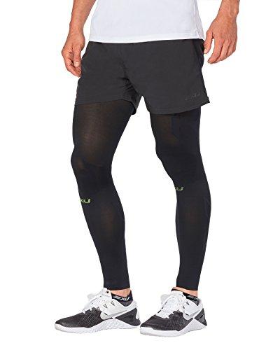 2XU Unisex Flex Recovery Compression Leg Sleeves (Black/Nero, Medium)