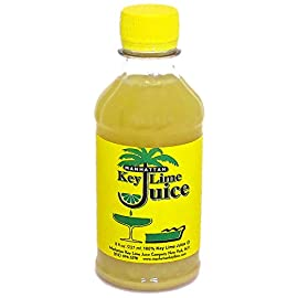 Manhattan Key Lime Juice, 8-ounce Bottle 5 100% pure Key Lime Juice Real citrus flavor without equal Perfect for baking, in pies, beverages and authentic Mexican or Caribbean dishes